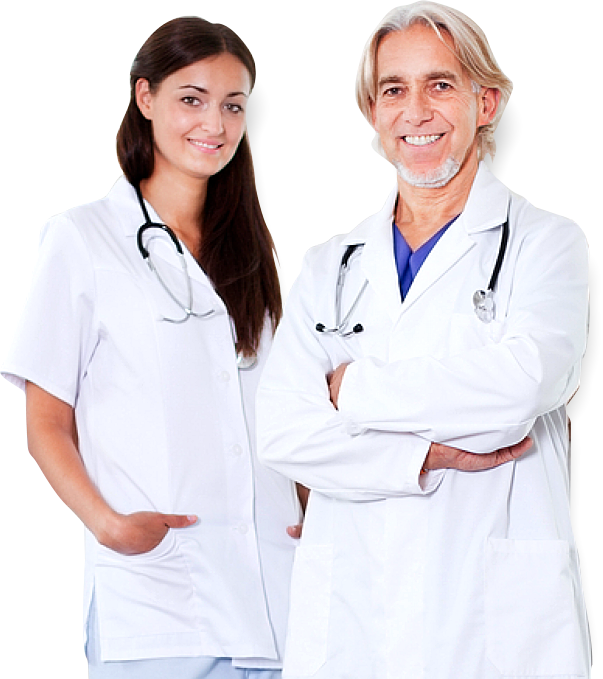 two doctors smiling